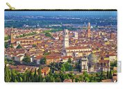 City Of Verona Old Center And Adige River Aerial Panoramic View Carry-all Pouch
