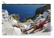 Cliff Perched Houses In The Town Of Oia On The Greek Island Of Santorini Greece Carry-all Pouch