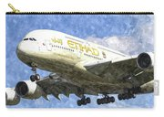 Etihad Airlines Airbus A380 Art Carry-all Pouch