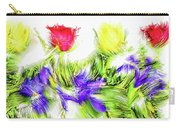Flower Frame Border Carry-all Pouch