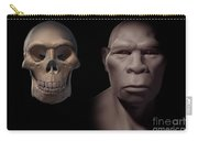 Homo Erectus With Skull Carry-all Pouch