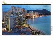 Honolulu Skyline Panorama Carry-all Pouch