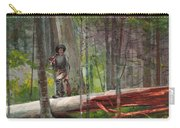 Hunter In The Adirondacks Carry-all Pouch