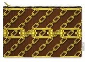 Iron Chains With Wood Seamless Texture Carry-all Pouch