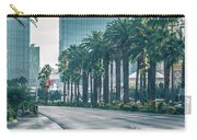 Las Vegas Nevada City Skyline And Vegas Strip At Night Carry-all Pouch