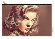 Lauren Bacall, Vintage Actress Carry-all Pouch