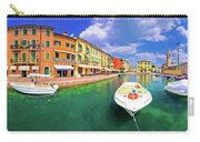 Lazise Colorful Harbor And Boats Panoramic View Carry-all Pouch