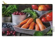 Mix Of Fruits, Vegetables And Berries Carry-all Pouch