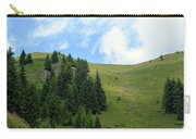 Natural Scenery With Mountains And Cloudy Sky. Carry-all Pouch