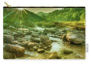 Nice River Water Flowing Through Rocks At Dawn Carry-all Pouch