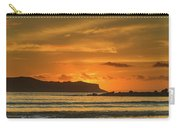 Orange Sunrise Seascape And Silhouettes Carry-all Pouch