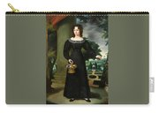 Portrait Of A Young Lady With Flower Basket Carry-all Pouch