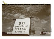 Route 66 Drive-in Theatre Carry-all Pouch by Frank Romeo