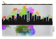 Seattle Skyline Silhouette Carry-all Pouch