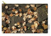 Silver Birch Leaves Lying On A Brick Path In A Cheshire Garden On An Autumn Day   England Carry-all Pouch