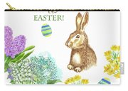 Spring Rabbit And Flowers Carry-all Pouch