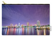St Petersburg Florida City Skyline And Waterfront At Night Carry-all Pouch