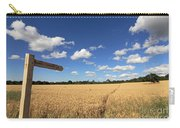 Tracks Through Golden Wheat Field Carry-all Pouch