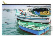 Traditional Boats At Marsaxlokk Harbor In Malta Carry-all Pouch