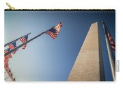 Washington Dc Memorial Tower Monument At Sunset  Carry-all Pouch