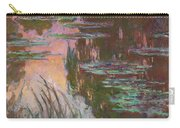 Water Lilies, Setting Sun Carry-all Pouch
