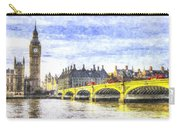 Westminster Bridge And Big Ben Art Carry-all Pouch