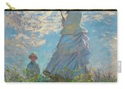 Woman With A Parasol - Madame Monet And Her Son Carry-all Pouch