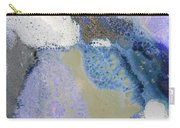 41. Blue Purple White Glaze Painting Carry-all Pouch
