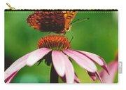 #416 14a Butterfly Fritillary, Coneflower Lunch Break Good Till The Last Drop Carry-all Pouch
