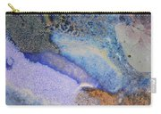 42. Blue Purple Black Glaze Painting Carry-all Pouch