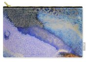 42. V1 Blue Purple Black Glaze Painting Carry-all Pouch
