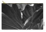 4327- Leaf Black And White Carry-all Pouch