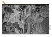4398- Flower Black And White Carry-all Pouch