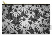 4400- Daisies Black And White Carry-all Pouch
