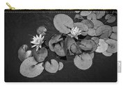 4425- Lily Pad Black And White Carry-all Pouch