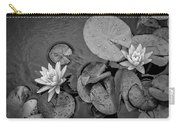 4432- Lily Pads Black And White Carry-all Pouch