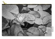 4434- Lily Pads Black And White Carry-all Pouch