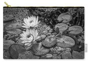 4445- Lily Pads Black And White Carry-all Pouch