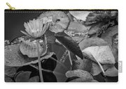 4466- Lily Pads Black And White Carry-all Pouch