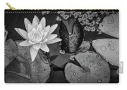 4475- Lily Pads Black And White Carry-all Pouch