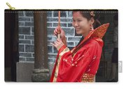 4498- Girl With Umbrella Carry-all Pouch