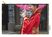 4503- Girl With Umbrella Carry-all Pouch