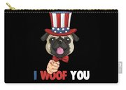 4th Of July Usa Indepedence Day Patriotic Uncle Sam Pug Dog Carry-all Pouch