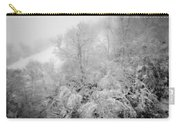 Abstract Scenes At Ski Resort During Snow Storm Carry-all Pouch