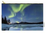 Aurora Borealis Over Sandvannet Lake Carry-all Pouch