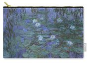 Blue Water Lilies Carry-all Pouch
