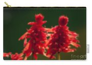 Blurred Seasonal Flower With Dark Background Carry-all Pouch