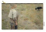 Boy With A Crow Carry-all Pouch