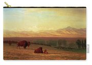 Buffalo On The Plains Carry-all Pouch