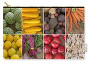 Fruit And Vegetable Collage Carry-all Pouch